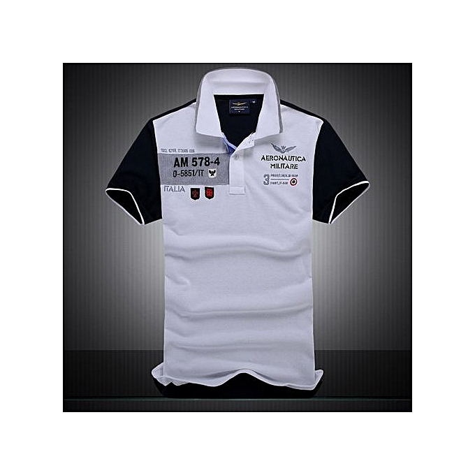 mode Cotton AERONAUTICA MILITARE Air Force One polo shirt Embroidery Aeronautica Hommes Military polo shirt-whcravate à prix pas cher