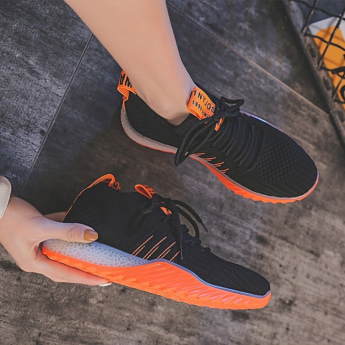 Other Stylish femmes Breathable Elastic Socks chaussures Flying Weaving Sports chaussures-noir Orange à prix pas cher    Jumia Maroc