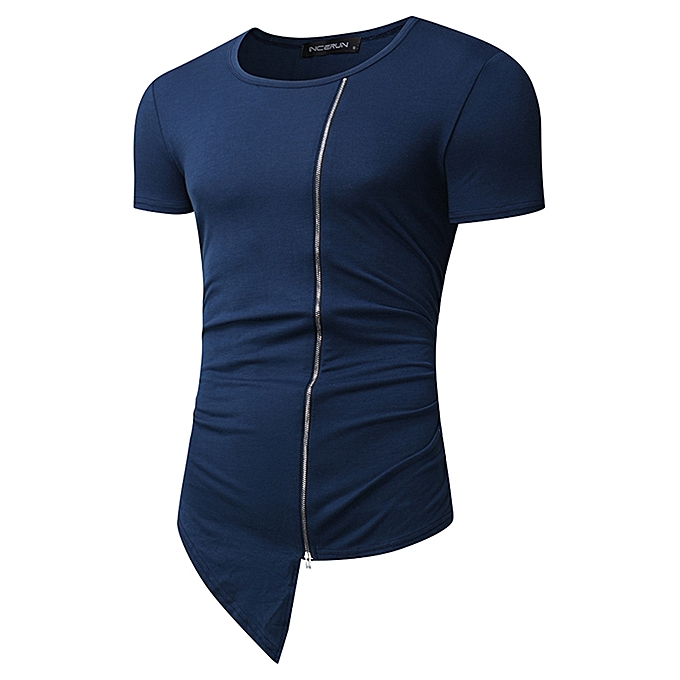 mode Pour des hommes été manche courte Shirt Tee hauts Muscle Crew Neck Plain mode T-shirt à prix pas cher