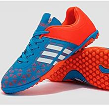 pretty nice b522c aed40 New Stylish Youngsters Flat PU Plastic Broken Nail Grassland Football  Training Sports Shoes-Orange