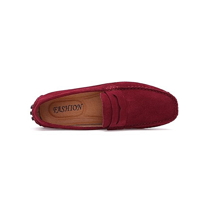 Générique Loafers Loafers Générique Slip On Driving Shoes   Casual Moccassins Soft Suede Leather Shoes Plus Big EUR Size 39-46 - Red à prix pas cher    Jumia Maroc 97914e