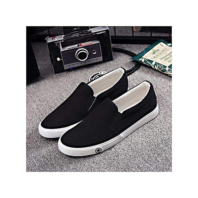Other Casual Men's Canvas Flat baskets Wearproof Working chaussures à prix pas cher