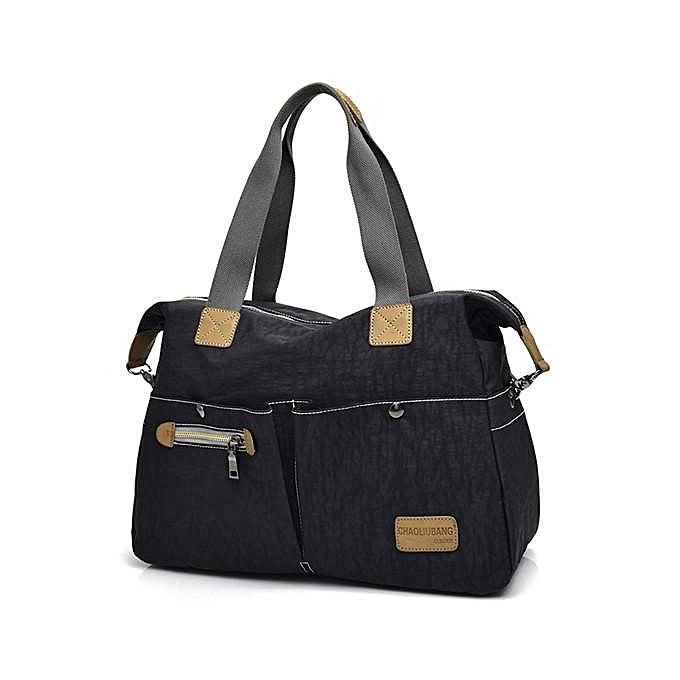 Fashion femmes Vintage Nylon Tote Handbags Front Pockets Shoulder Bags Capacity Crossbody Bags Watermelon rouge à prix pas cher