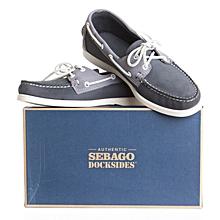purchase cheap 074e6 e572a Chaussures Bateau SPINNAKER - Marine   Gris