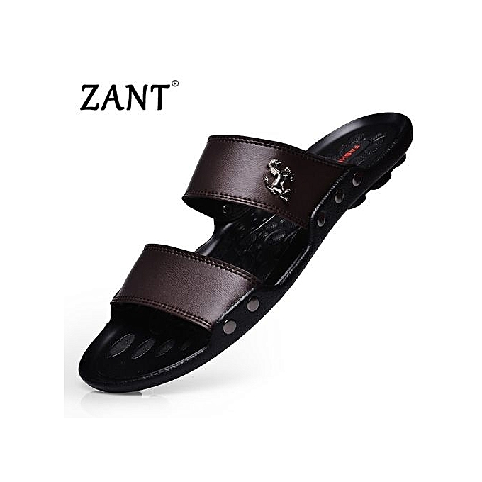 Zant Luxury Brand Men's Flip Flops Fashion Slippers Summer Beach Sandals chaussures For Men Flip-flops marron à prix pas cher    Jumia Maroc