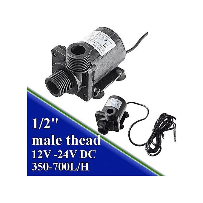 UNIVERSAL 12V 24V 5.5M Hot Water Circulation Pump Solar Water Pump Brushless Motor 1000L H à prix pas cher