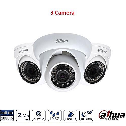 Pack 3 Camera De Surveillance Interieur 2 Megapixel 1080P Waterproof IR  Eyeball