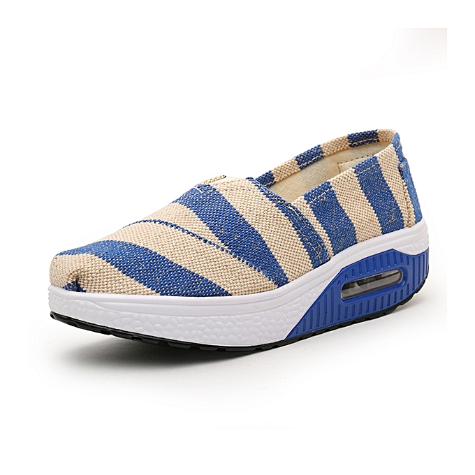Fashion femmes Casual Rocker Sole chaussures Outdoor Canvas Lop Top Sport Shpes à prix pas cher    Jumia Maroc