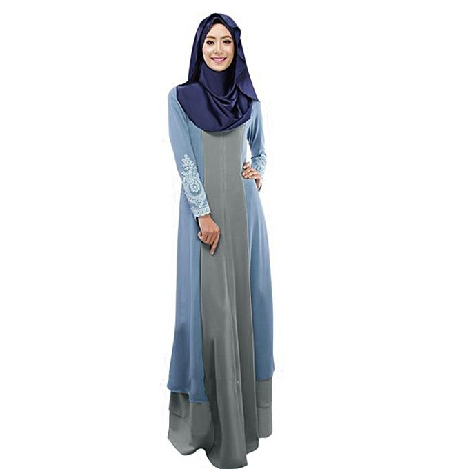 mode (Xiuxingzi) Vintage femmes Abaya Long Maxi Robe Arab Jilbab Muslim Robe à prix pas cher