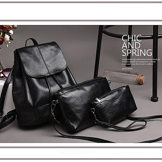 Generic femmes Backpacks Three Sets Of Shoulder For Teenage Girl Waterproof Travel Bag à prix pas cher