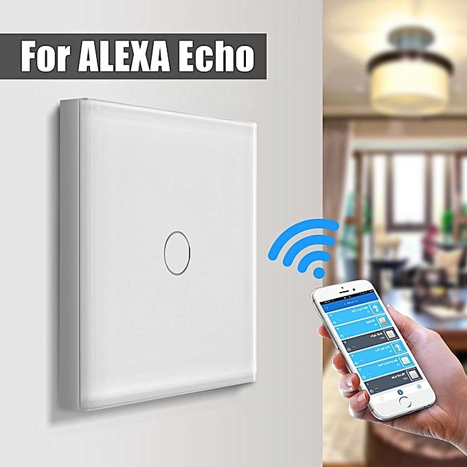 UNIVERSAL Smart Wifi Light Touch Remote Control Wall Switch Panel For Amazon Alexa Echo EU Plug à prix pas cher