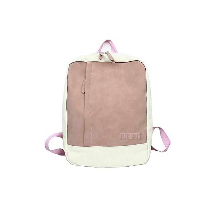 mode Singedanfemmes Girl Décontracté Mini sac à dos Patchwork voyage sac à dos School sac -rose à prix pas cher