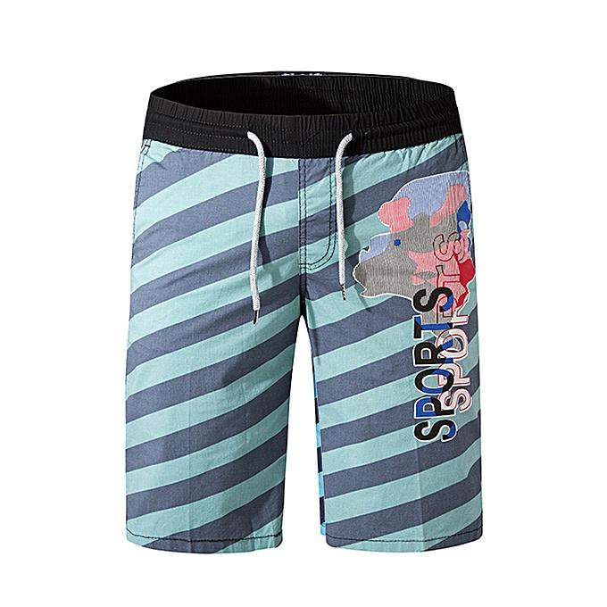 mode jiahsyc store Hommes& 039;s Décontracté Stripe impression plage Surfing Swimming Loose Sport courte Pants à prix pas cher