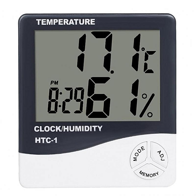 Other MagiDeal Digital LCD Temperature Humidity Meter Clock Indoor Hygrometer Thermometer (blanc) MQSHOP à prix pas cher