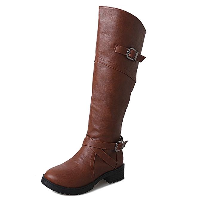 Générique Tcetoctre WoHommes  Leather Knight  Buckle  Knight  Faux Boots Flat Martin Shoes-Brown à prix pas cher  | Black Friday 2018 | Jumia Maroc 11b214