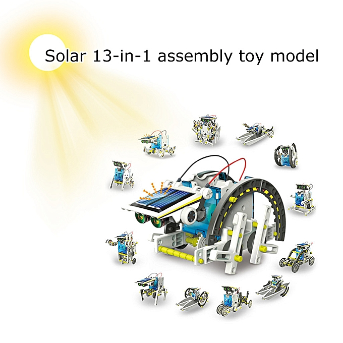 Generic DIY Environmentally Friendly Puzzle Solar Robot 13-in-1 Assembled Toy Model à prix pas cher