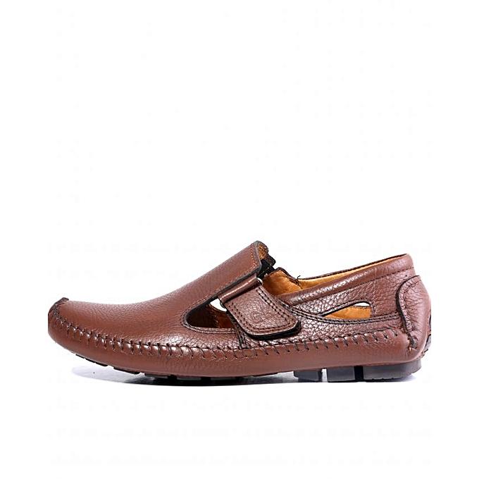 Generic Sandale Slip-on 100% Cuir à prix pas cher
