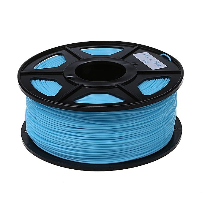 GENERAL New 3D Printer Filament ABS PLA 1.75mm 3.0mm For 3D Printer 1kg 2.2lbs Material PLA Taille 1.75mm Couleur Cyan à prix pas cher