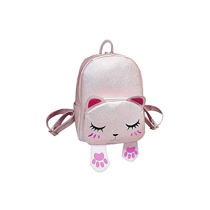 Generic Cute Cat Backpack School femmes Backpacks For Teenage Girls à prix pas cher