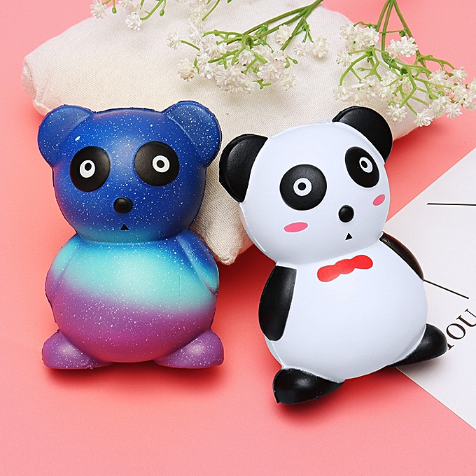 UNIVERSAL Squishy Panda Jumbo 12cm Slow Rising Soft Kawaii Cute Collection Gift Decor Toy With Packing-blanc rouge à prix pas cher