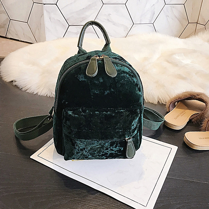 Fashion Singedan Shop Fashion femmes Girl Velour Backpack Travel Rucksack School Bag à prix pas cher