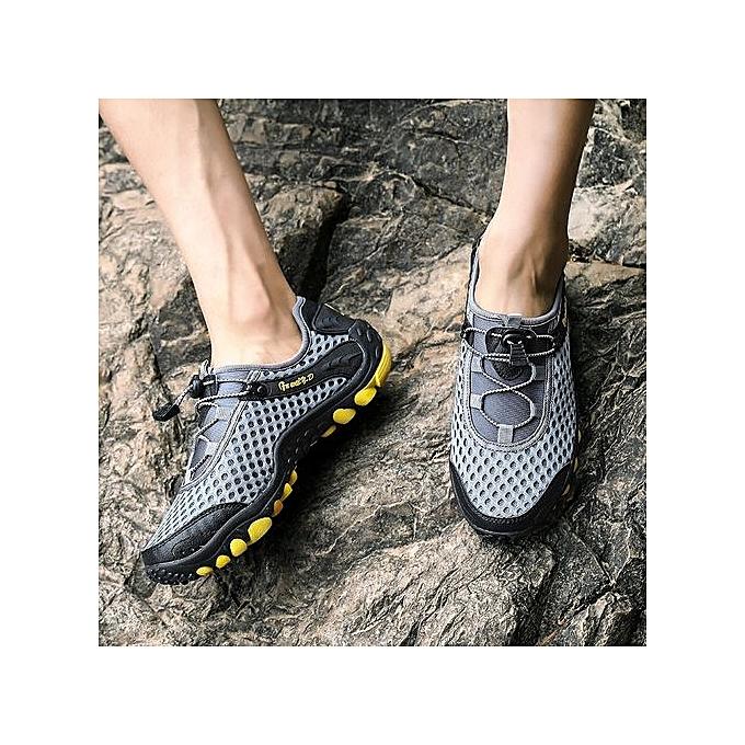 Générique  's Hiking Shoes Outdoors Mesh Mesh Outdoors Walking Shoes Breathable - Grey à prix pas cher    Jumia Maroc 229b5b