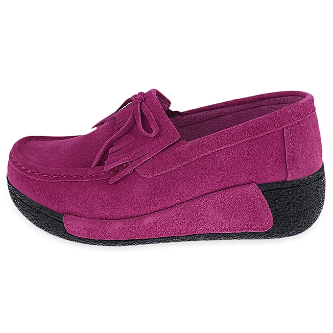 Fashion Fashionable Wedge Tassel Bowknot Decoration Comfortable Wedge Fashionable Shoes for WoHommes  à prix pas cher  | Jumia Maroc decf6f