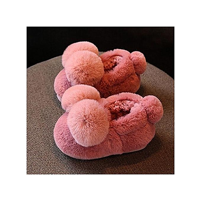Eissely Cute Plush Toddler Bow Baby Girls Plush Cute Soft Sole Non-slip Warm Velvet Snow Shoes- Pink à prix pas cher  | Black Friday 2018 | Jumia Maroc e49efe