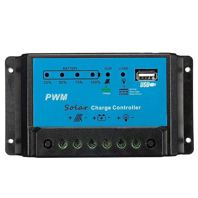 UNIVERSAL Intelligent 30A PWM Solar Panel Charge Controller 12V 24V Auto Battery Regulator à prix pas cher