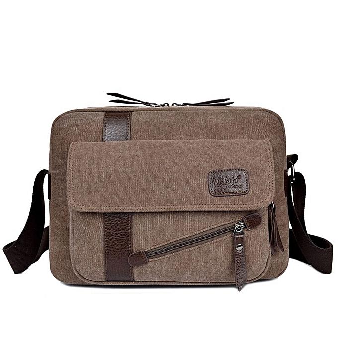 Other 2019 nouveau Hommes sac briefcase toile Affaires sacs luxury high quality laptop briefcase File package voyage Leisure sacs(coffee) à prix pas cher