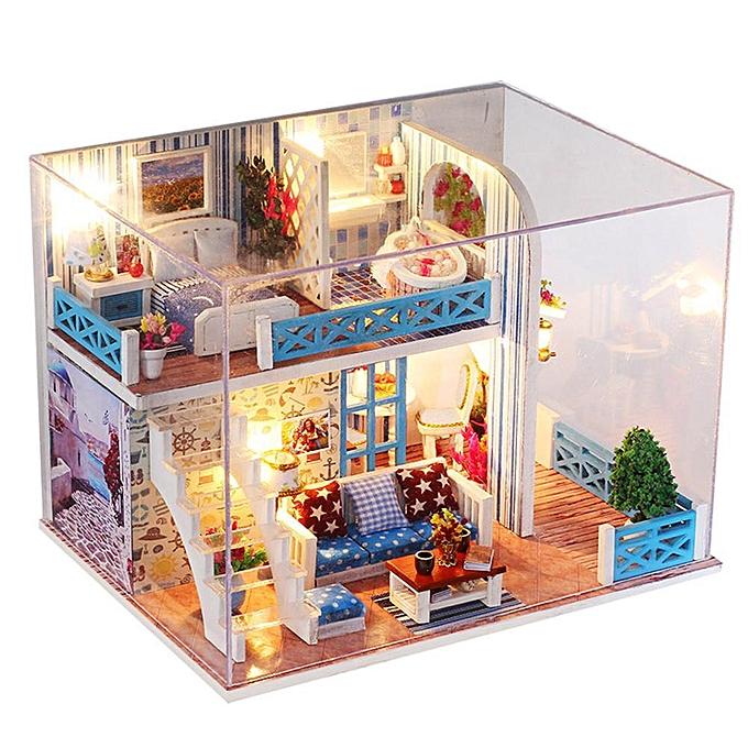 Autre VAKIND - Bricolage Seaview House Jouet Assemblée BâtiHommest Modèle Miniature Dollhouse à prix pas cher