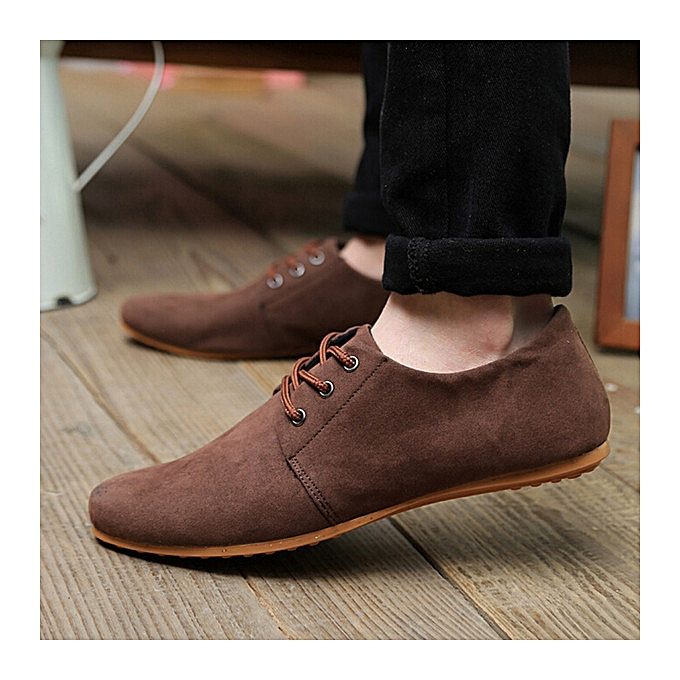 Fashion New Fashion Men's Flats Moccasin Loafer Casual Driving Suede Slip On chaussures 2017 à prix pas cher    Jumia Maroc