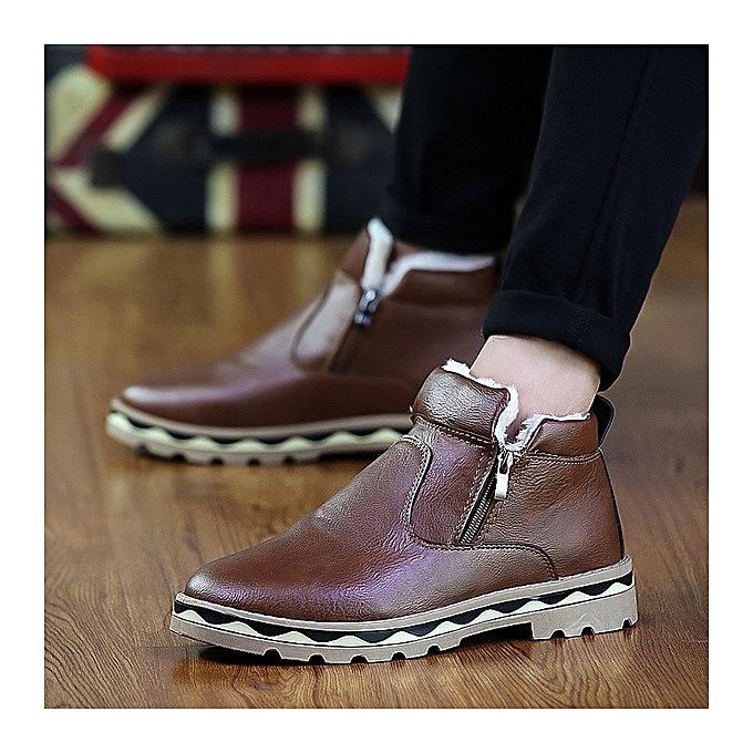 OEM Snow bottes hommes casual Martin bottes trend hommes bottes plus cotton hommes chaussures-marron à prix pas cher    Jumia Maroc
