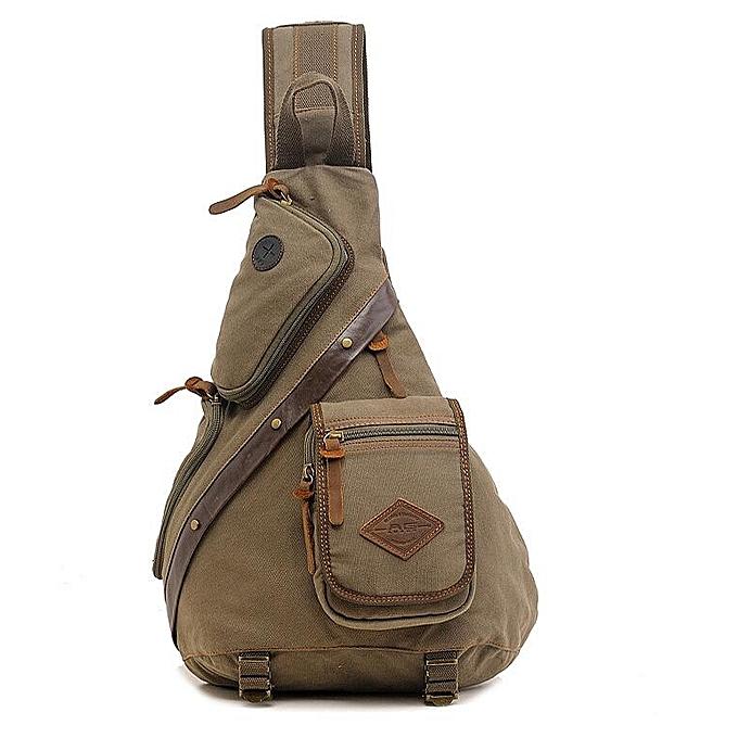 OEM New arrivel Men Chest Back Pack Bag Satchel Single Shoulder Bag Canvas Rucksack à prix pas cher