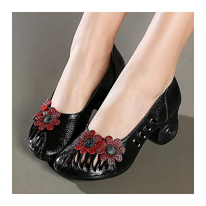 Fashion SOCOFY Fashion WoHommes WoHommes Fashion  Retro Hollow Out Handmade Flower Pattern Leather Pumps-EU à prix pas cher  | Jumia Maroc a1dbd2
