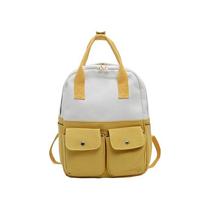 mode Singedan Shop mode femmes Students toile Hit Couleur Shoulder sac School sac Tote sac à dos à prix pas cher