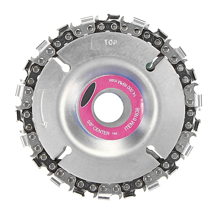 UNIVERSAL 4 Inch Grinder Chain Disc 22 Tooth Wood Carving Disc For 100 115 Angle Grinder à prix pas cher
