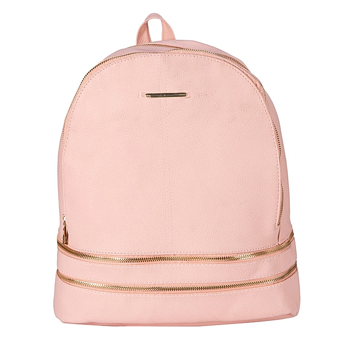 mode Tcetoctre femmes cuir Softback sacs Preppy Style Décontracté sac Teenage sac à doss Satchel PK-rose à prix pas cher