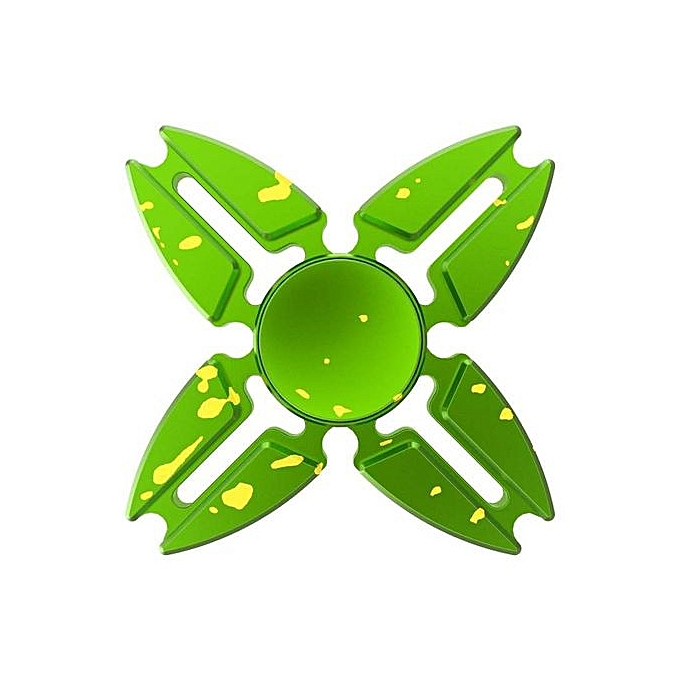OEM Grace 2017 Best LZD Fidget Spinner Hand Spinner Fingertip Gyro EDC Torqbar Blazing Colour Focus Crab Feet Metal EDC Four Angle Spinner Couleurful Finger Spinning (vert) à prix pas cher