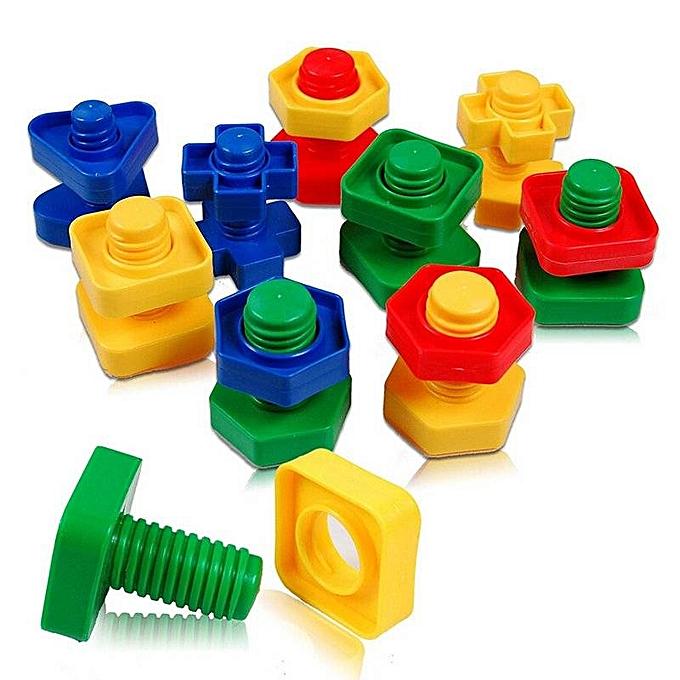 OEM Écrous de vis Couleurés assortis jouet éducatif puzzle cadeaux bébé à prix pas cher
