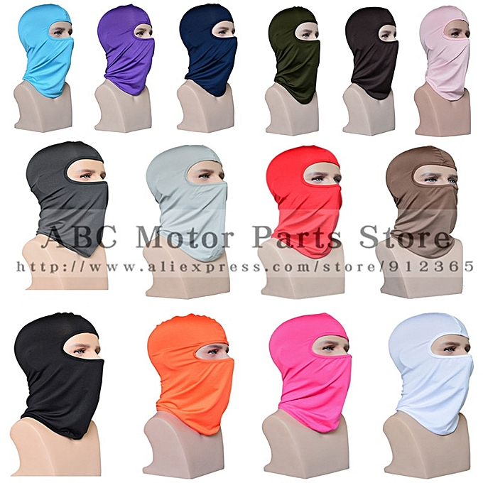 Autre Outdoor Sports Neck Motorcycle Face Mask Winter Warm Ski Snowboard Wind Cap Police Cycling Balaclavas Face Mask Tactical Mask( violet) à prix pas cher