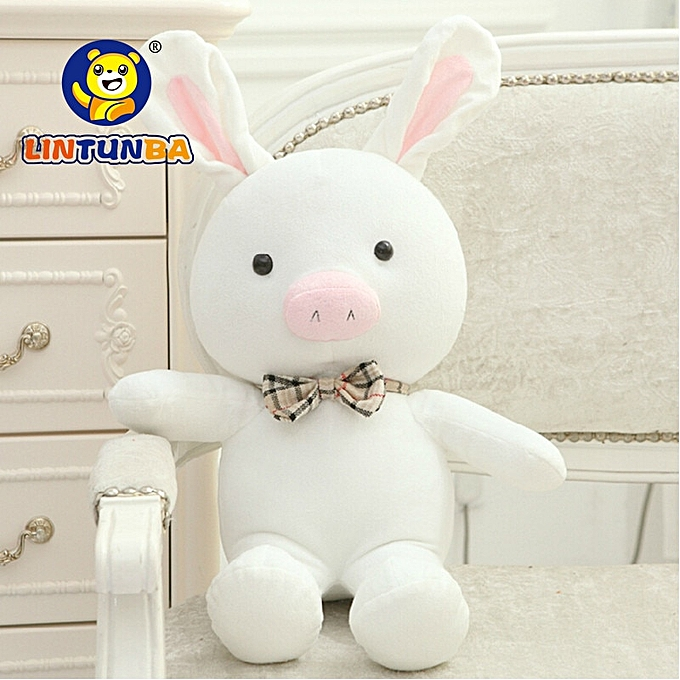 Autre 1pcs 50cm  turned out to be a handsome homme   pig rabbit plush toy cuddly doll animal pilFaible to give gifts(blanc) à prix pas cher