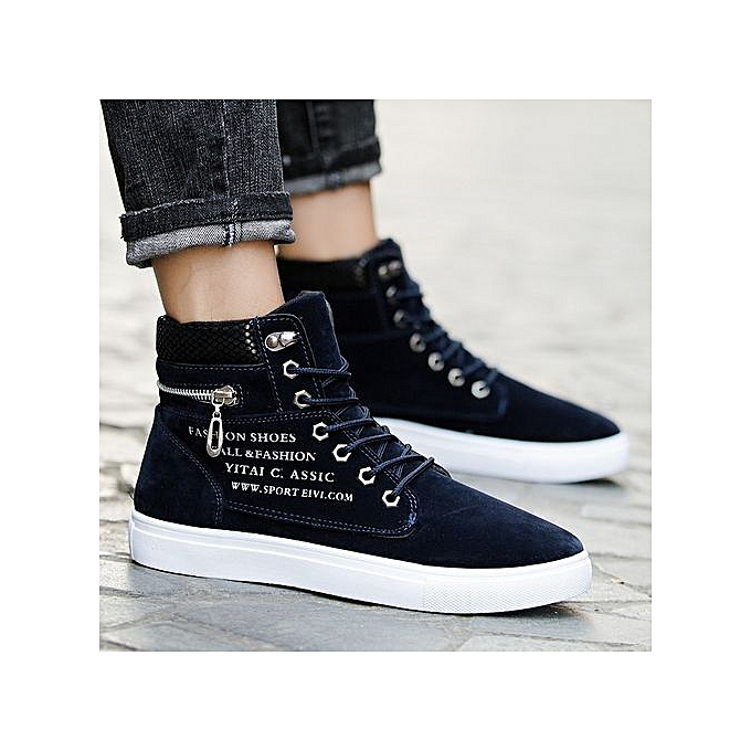 Other Men's Snake Pattern Suede High-tops baskets à prix pas cher