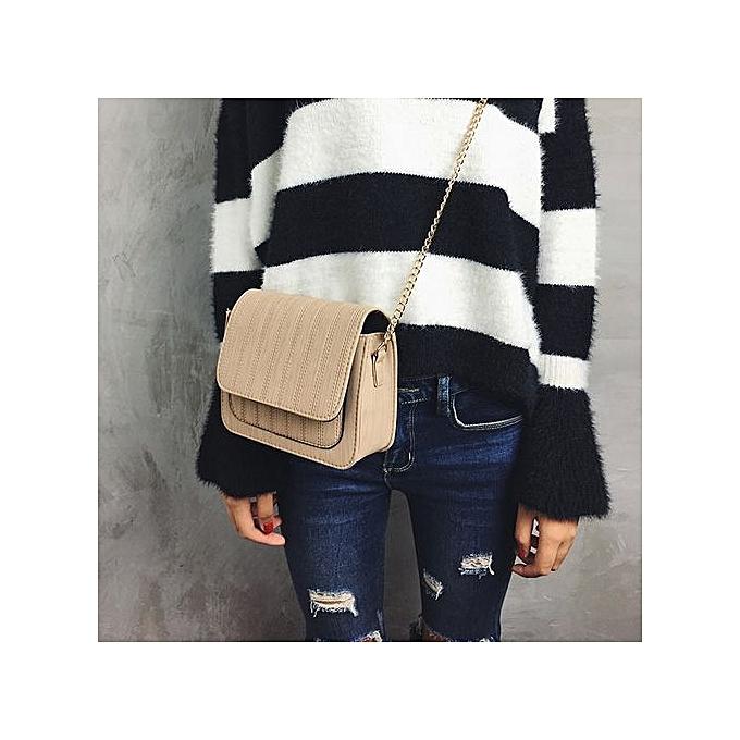 nouveauorldline femmes nouveau mode Solid Handsac Shoulder sacs bourse Messenger sac KH-Khaki à prix pas cher