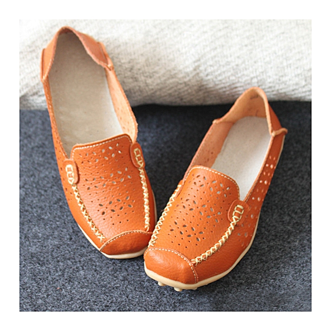 Fashion femmes Flats Casual Comfortable Soft Round Toe Hollow Out Flat Loafers chaussures à prix pas cher    Jumia Maroc
