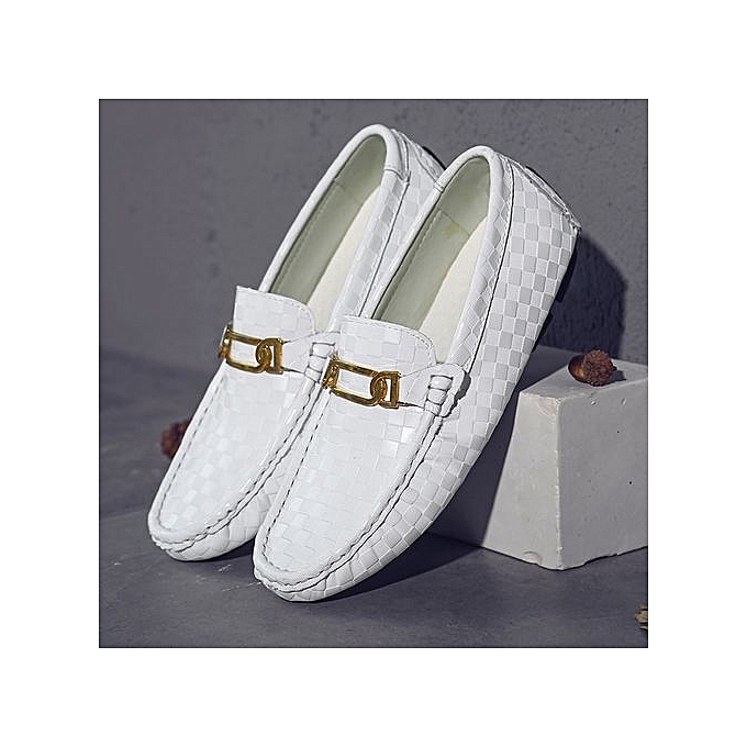 Zant   Genuine Leather Shoes Shoes Shoes Casual Driving Loafers Slip On Flat Shoes For   Soft Sole Moccasins Formal Shoes Large Size 38-47 White à prix pas cher  | Jumia Maroc 26e83c
