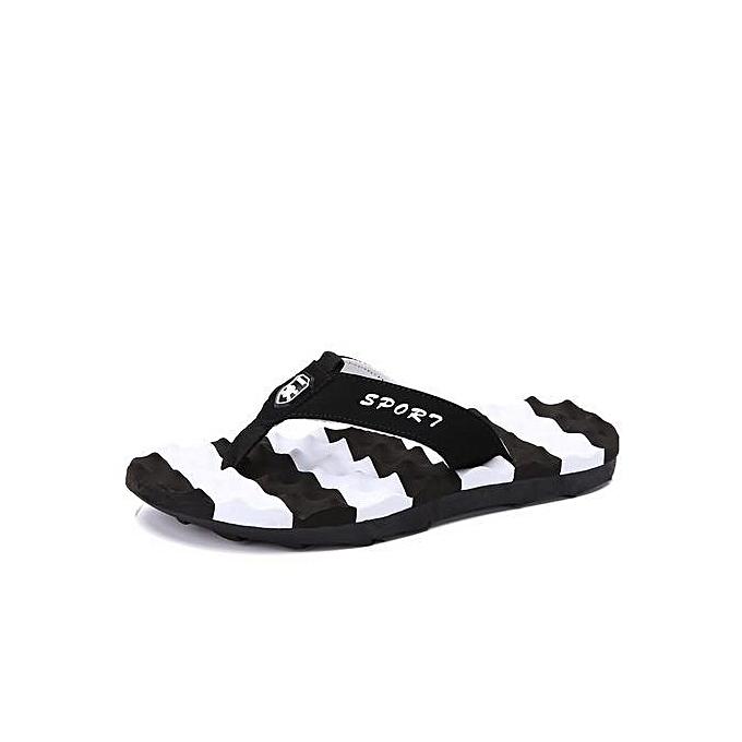 OEM Super Large Taille Summer  Men Flip flops outdoors & indoor slippery beach sandals slippers -noir à prix pas cher