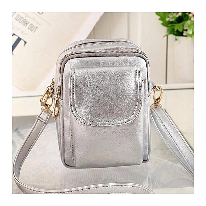 mode femmes Hommes Retro Front Zipper Pocket Shoulder sacs Vintage bandoulière sacs Waist sacs 5.5'' Phone sacs à prix pas cher