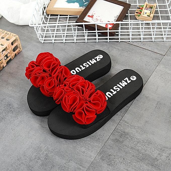Fashion Jummoon Shop femmes Flower Summer Sandals Slipper Indoor Outdoor Flip-flops Beach chaussures à prix pas cher    Jumia Maroc