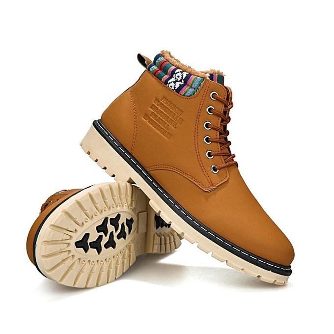 OEM  's 's 's plus velvet Martin Chaussure s casual Hommes 's Chaussure s high to help waterproof high Chaussure s-khaki à prix pas cher  | Jumia Maroc 9f01fc